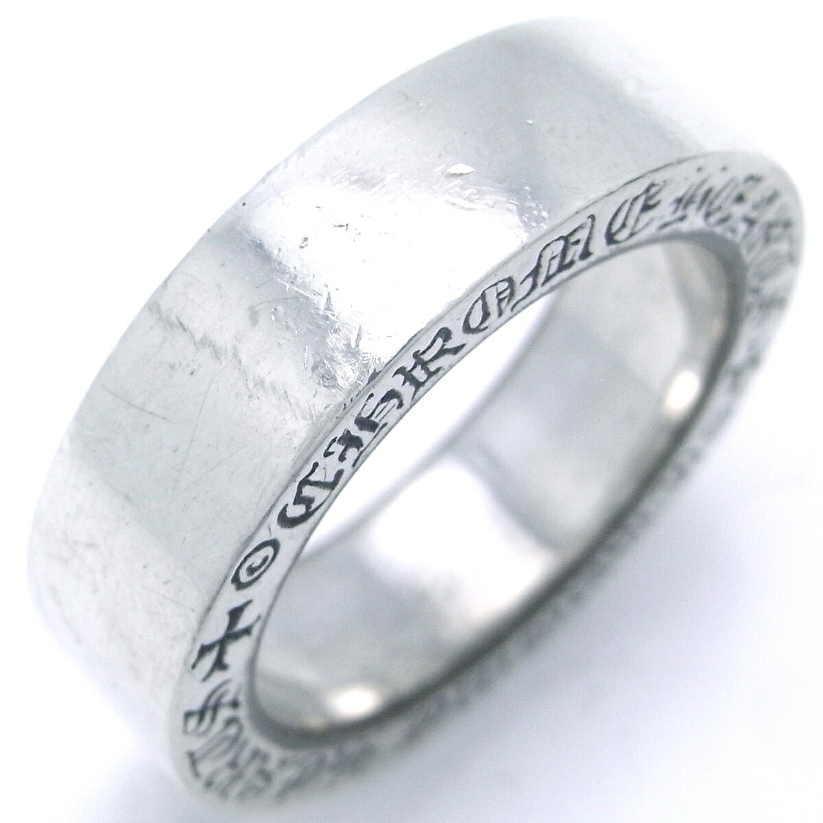 8a3cd600926 Detalles acerca de Auth Chrome Hearts Silver 925 Spacer 6mm Plain Ring  9.5  (Japan Size) (DH45388)