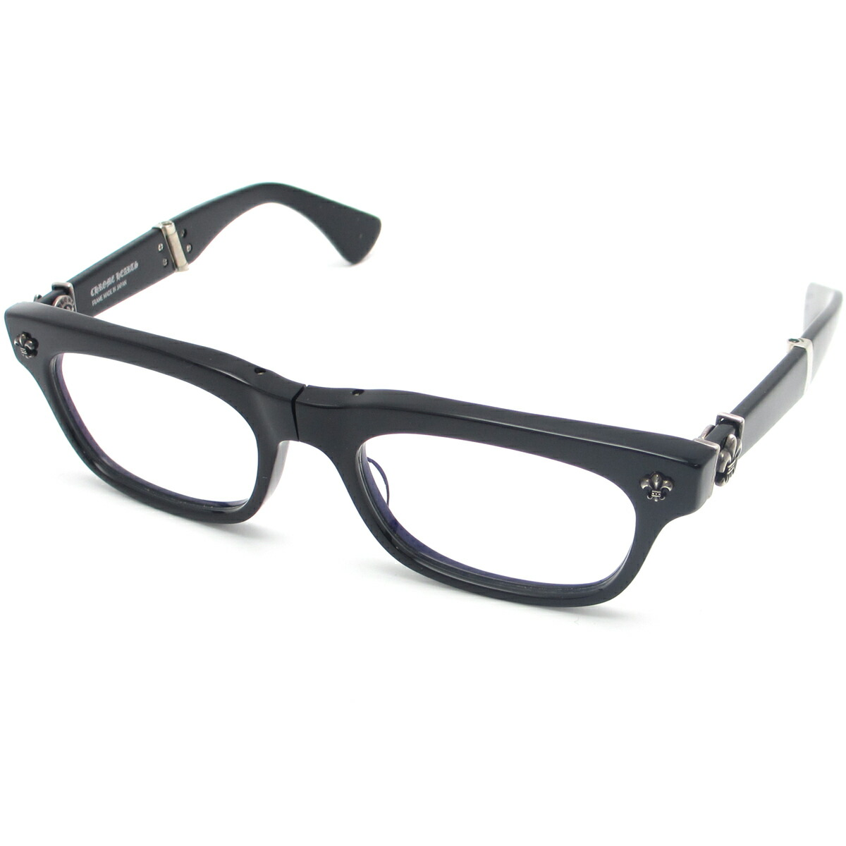 Auth Chrome Hearts Droolin Eyeglass Frame Clear Lens ※With Diopter ...
