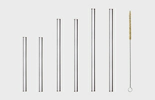 HALM ハルム社 ガラスストロー 6pcs Bセット : ストレート 15cm × 2、ストレート 20cm × 2、ストレート 23cm × 2