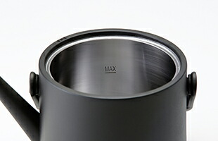 180度可動のアーチハンドルと大きな本体給水口(11cm)のおかげで給水やお手入れも楽チン