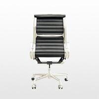ハーマンミラー/イームズ/アルミナムチェア/マネージメント チェア/ローバック肘付 椅子/革張/黒[ハーマンミラーのアルミナムチェア]