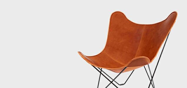 北欧スウェーデン/BKF Chair BKFチェア/ブラウンレザー