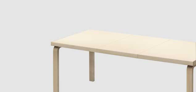 北欧 artek/アルテック/アアルト/97エクステンションテーブル バーチ [エクステンションテーブルは北欧artek アルテック]