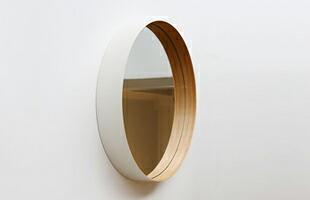 teori テオリ/ウォールミラー・壁掛け・姿見・鏡/zero ゼロ/Mサイズ/乳白[ウォールミラー・壁掛け・姿見・鏡はteori テオリ]