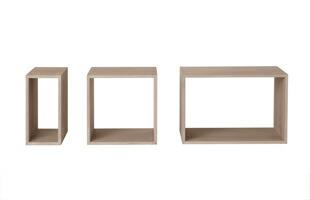 北欧 MUUTO(ムート) STACKED/シェルフ ラック/ホワイト/バックボード付き S【シェルフ単品】 [北欧シェルフ ラックはMUUTO(ムート) ]
