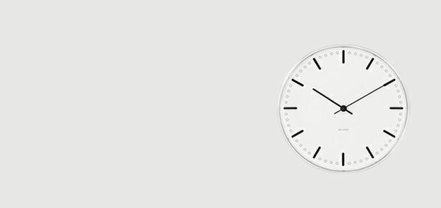 ローゼンダール アルネ ヤコブセン 掛時計・壁掛け時計 city hall シティホール φ21cm  [ デザイナーズ ウォールクロック 北欧 ]
