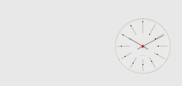 ローゼンダール アルネ ヤコブセン 掛時計・壁掛け時計 bankers バンカーズ φ21cm  [ デザイナーズ ウォールクロック 北欧 ]