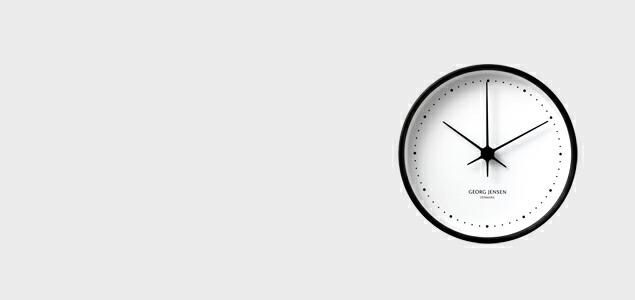 GEORG JENSEN ジョージ ジェンセン/KOPPEL/掛時計・壁掛け時計SS WHダイヤル/φ10 [北欧 おしゃれな掛時計・壁掛け時計はジョージ ジェンセン]