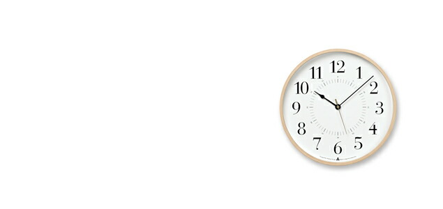 Lemnos 掛時計 TOKI[全2種]  AWA13-05[ レムノスのデザイナーズ ウォールクロック ]