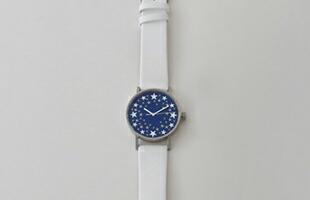 sapporo star watch 札幌駅 星の大時計 革バンド 白