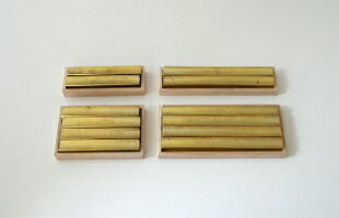 FUTAGAMI/鋳肌のカトラリーレスト『流星』/小二個入り [真鍮製カトラリーレスト・箸置きはFUTAGAMI フタガミ/おしゃれな真鍮製箸置き]