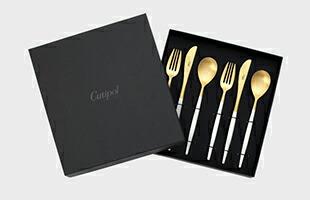 Cutipol クチポール MIO ディナー6本セット ホワイト×ゴールド white×gold
