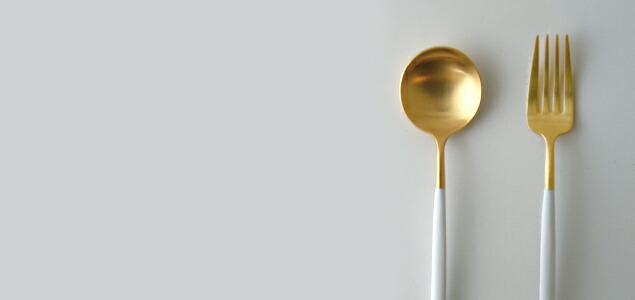 cutipol クチポール/GOA ホワイト×ゴールド/デザートナイフ [ カトラリー/デザートナイフはcutipol/クチポール/goa/ホワイト×ゴールド ]