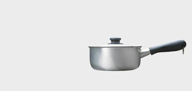 柳宗理/片手鍋ステンレスアルミ3層鋼片手鍋 22cm(IH対応)