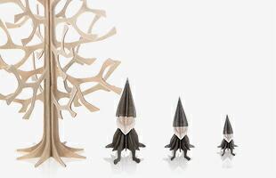 Momi-no-ki 50cmとエルフ( 左から 16cm,12cm,8cm ) サイズ比較イメージ画像