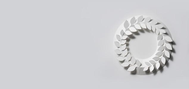 クリスマスリース ホワイト/paper wreath/山ぶどう M [クリスマスリース/ホワイトはchiori design ペーパーリース]