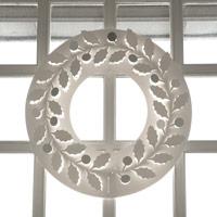 クリスマスリース ホワイト/paper wreath/月桂樹 S【小型宅配便(ネコポス)対応】 [クリスマスリース/ホワイトはchiori design ペーパーリース][ネコポス便 1/7]