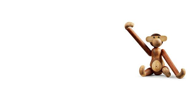 KAY BOJESEN DENMARK カイ・ボイスン デンマーク/木製 オブジェ 玩具/モンキーM [ モンキー 小鳥などカイボイスンの木製オブジェ ]