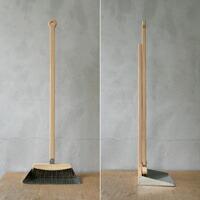 小泉誠デザインのasahineko セットで使えるブラシ・ほうき・ちりとり