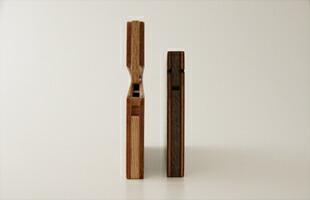 薄型名刺入れウオルナット/カードケース [木製の薄型名刺入れ/カードケース]