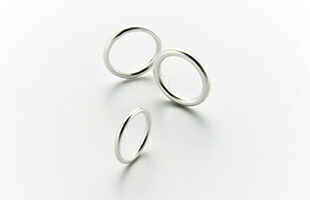 gold wedding ring k18 Round 2.5mm / Round 2mm / Round 3mm 比較画像