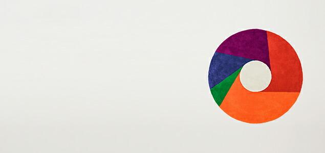 MaxBillのグラフィックアート作品のウール・ラグ