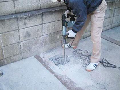 柱位置の穴掘り