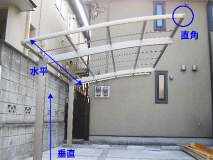 屋根フレームの組立て