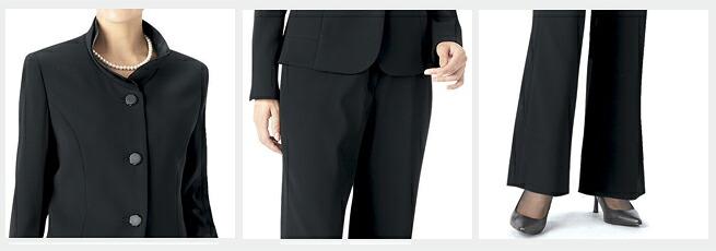 日本製ブラックフォーマルレディース婦人服喪服礼服点スーツ(2ボトム) 1312-5