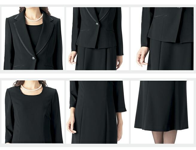 日本製ブラックフォーマルレディース婦人服喪服礼服アンサンブルワンピース 989670-4