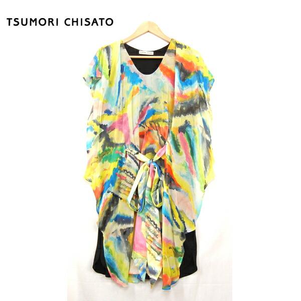 TUMORI CHISATO ツモリチサト フリルドワンピース サイズ2 シルク×ウール製【中古】