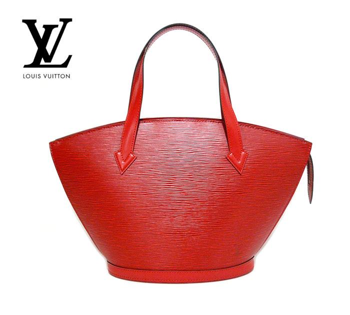 LOUIS VUITTON ルイヴィトン エピ サンジャック ハンドバッグ トートバッグ カスティリアンレッド 赤 M52277