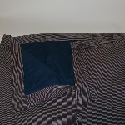 【日本製】赤外線 綿入れ作務衣ストライプ 上下セット