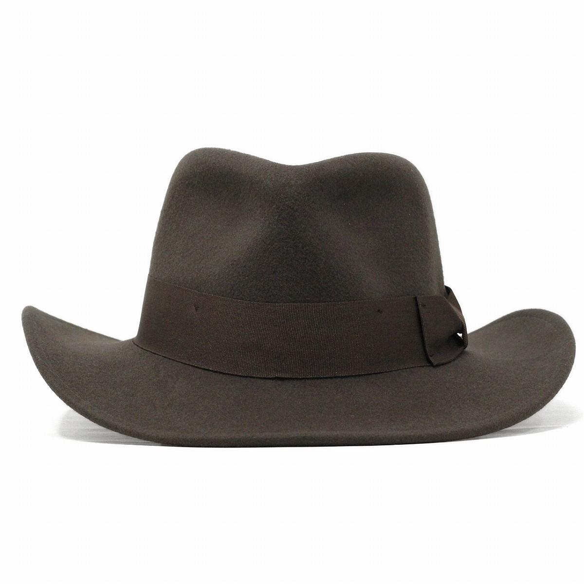ELEHELM HAT STORE  Wide brim Hat hats Indiana Jones wool felt Hat men s  imported INDIANA JONES wild autumn winter fashion   Brown Brown  47372e0218f5