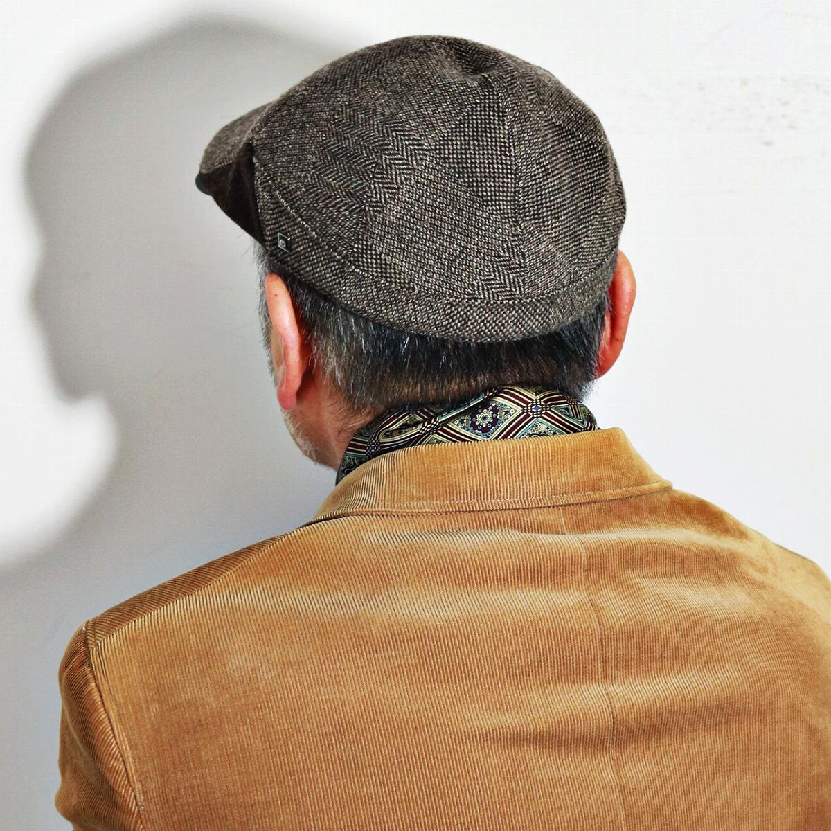 ムーン M アイビーキャップ 茶 クリスマス ラッピング無料 メンズ Ivy 男性 ハンチング帽