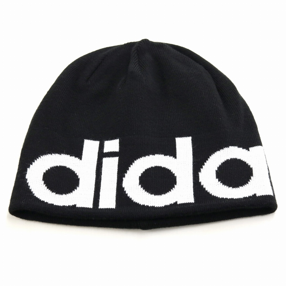 c26fd28e931 Adidas knit hat 2way men adidas hat knit big logo beanie lapel  ニットワッチフリーサイズニット hat Lady s sports MIX coordinates casual stylish trendy ...