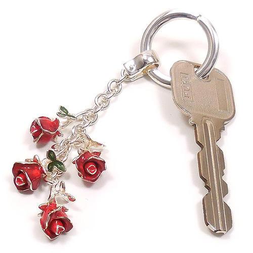 サツルノ:薔薇のシルバーキーリング