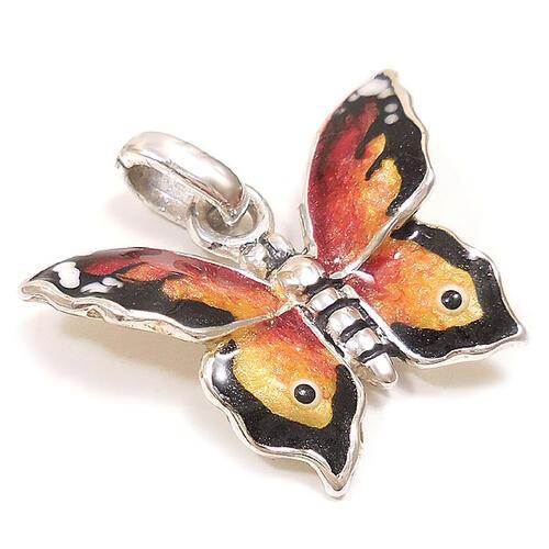 サツルノ:蝶々のシルバーチャーム