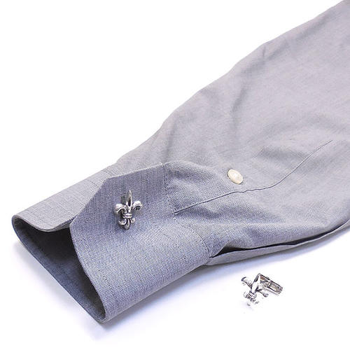 ベルフィオーレ:アヤメの銀製カフリンクス