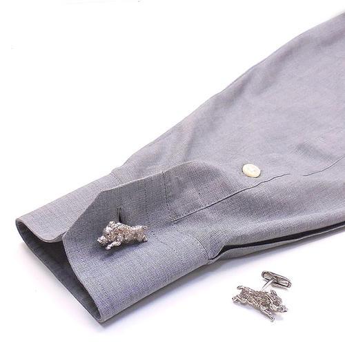 ベルフィオーレ:猪の銀製カフリンクス