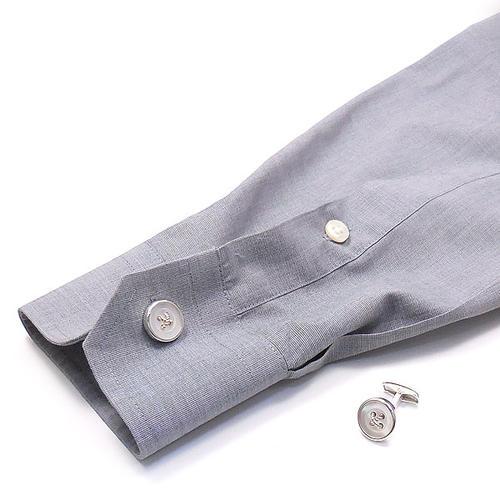 ベルフィオーレ:白蝶貝ボタンの銀製カフリンクス