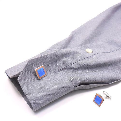 ベルフィオーレ:リリー紋章の銀製カフリンクス