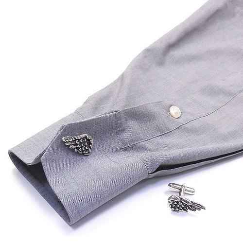 ジョバンニ・ラスピーニ:翼の燻し銀カフスボタン