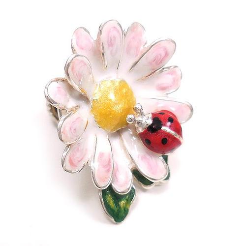 サツルノ:てんとう虫と花のピンズ