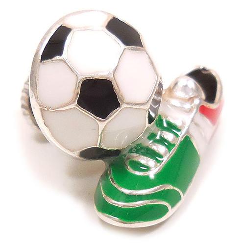 サツルノ:サッカーボール&スパイクのピンズ