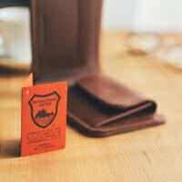 栃木レザー 二つ折り財布 ヌメ革 [メンズ] 厚みのある本革のしっかりとしたウォレット 財布