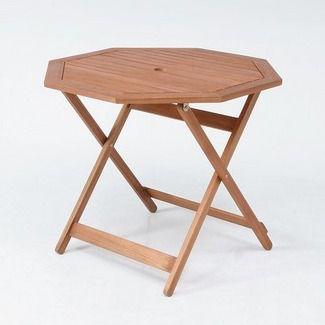 折りたたみ木製テーブル ガーデンテーブル 八角形 天板直径900mm 耐久性に優れ腐りにくいアカシア材使用
