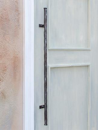アイアン 取っ手 ハンドル 扉用 ドアハンドル ロング BUKOTU HRT-3003 面付けタイプ ハンドメイド ナチュラルクリアー 玄関ドア ドア 装飾取っ手 ドアノブ