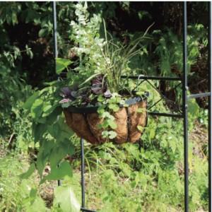 ガーデンアーチ スチール製 パーゴラ アーチ ベランダ バラ 薔薇 ガーデニング 園芸用品 ガーデンファニチャー ローズガーデン プランター置き台付 薔薇の誘引 おしゃれ