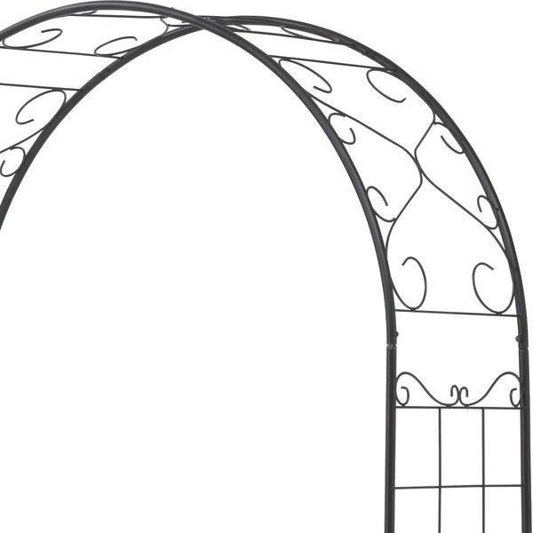 ガーデンアーチ スチール製 パーゴラ アーチ ベランダ バラ 薔薇 ガーデニング 園芸用品 ガーデンファニチャー ローズガーデン ツル植物・薔薇の誘引 おしゃれ 連結部分